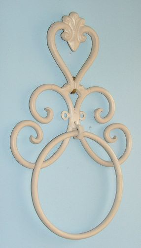 Wrought Iron Bathroom Accessories Heart Holder Wall Towel Ring