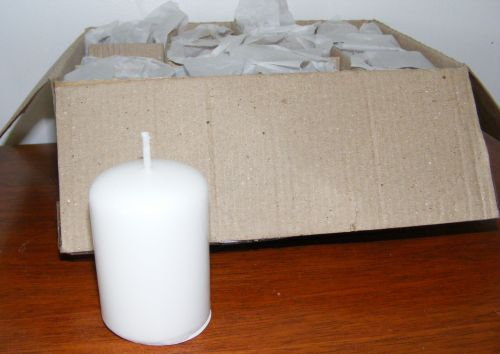Pillar Candles - White unscented - Wedding Events - Bulk Set of 12 - CA06