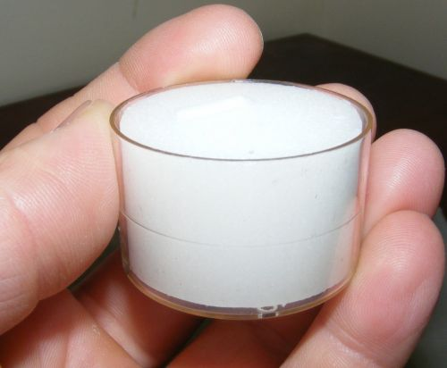 Tea Light Candles - White unscented - Clear Acrylic cup - 9 hour - Bulk x 50 - CA16