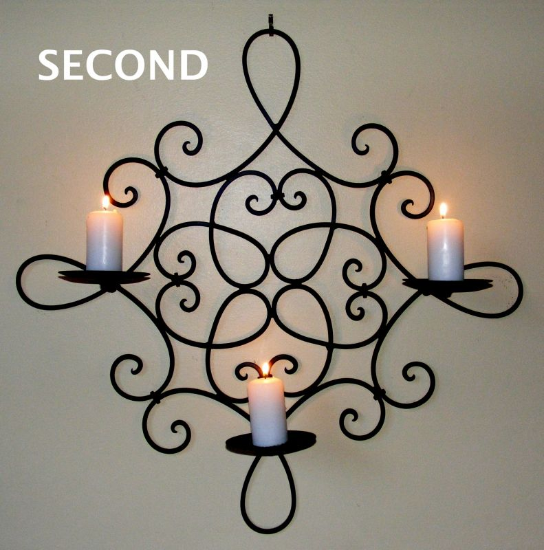 Hunter Valley Homewares - Image zoom for Wrought Iron Candle ...