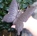 Cast Iron Butterfly - Rustic Decoration Garden Ornament - Large Butterfly - CI11